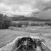 A battlefield near Balaklava, Crimea, site of several military engagements in the Crimean War, World War I and World War II,