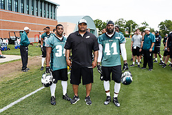 A Group Photo of the Running Backs who attended the Philadelphia Eagles NFL football rookie camp at the teams practice facility on Saturday, May 17, 2014. (Photo by Brian Garfinkel)