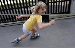Child skating. (Photo by Vid Ponikvar / Sportal Images)