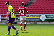 GOAL 1-0 Bristol City's Jamie Paterson (10) celebrates scoring his sides first goal during the EFL Cup match between Bristol City and Exeter City at Ashton Gate, Bristol, England on 5 September 2020.