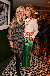 Left to right, Jenny Halpern-Prince and Tara Bernerd at a party to celebrate the publication of Place by Tara Bernerd held at il Pampero at The Hari, 20 Chesham Place, London, England. 8 March 2017.
