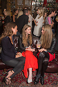 LAVINIA BRENNAN; KATIE READMAN; BRYONY DANIELS, JOHNNIE WALKER BLUE LABEL  Summer Party at Mr Fogg's.  15 Bruton Lane, Mayfair, London. 12 June 2013.