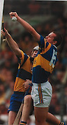 Tipperary's Brian O'Meara and Clare's Michael O'Halloran in action in the 1997 final.