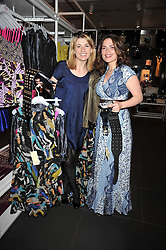 Left to right, JODIE WHITTAKER and HAYLEY ATWELL at a party to celebrate the launch of the Matthew Williamson collection at H&M held at the H&M store, Regent Street, London on 22nd April 2009.