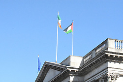 """May 9, 2017 - Dublin, Ireland - The motion was put forward by Councillor John Lyons, People Before Profit, he said that the move will be a """"small gesture of solidarity from the elected representatives of Dublin City with a people struggling for self-determination, freedom and dignity in the face of the most horrendous Israeli occupation and apartheid system. (Credit Image: © John Rooney/Pacific Press via ZUMA Wire)"""
