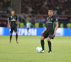 August 8, 2017 - Skopje, Macedonia - Real Madrid's Brazilian midfielder Casemiro during the UEFA Super Cup football match between Real Madrid and Manchester United on August 8, 2017, at the Philip II Arena in Skopje. (Credit Image: © Ahmad Mora/NurPhoto via ZUMA Press)