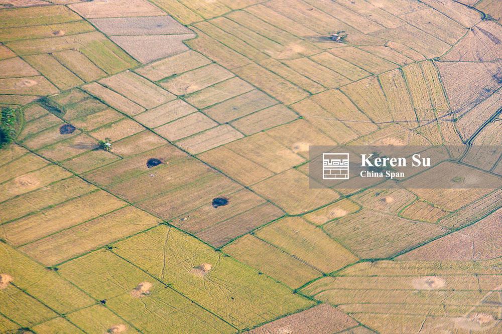 Aerial view of farmlands, Iloilo, Philippines