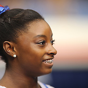 Simone Biles, Spring, Texas, after winning the All-Round title during the Senior Women Competition at The 2013 P&G Gymnastics Championships, USA Gymnastics' National Championships at the XL, Centre, Hartford, Connecticut, USA. 17th August 2013. Photo Tim Clayton