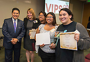 Volunteers in Public Schools VIPS award ceremony, April 13, 2017.