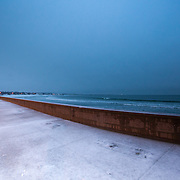 Today's slushy Winter Sunrise  at Narragansett Town Beach, Narragansett, RI,  January  16, 2013. Photo: Tripp Burman