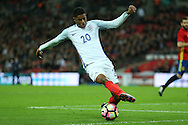 Marcus Rashford of England in action. England v Spain, Football international friendly at Wembley Stadium in London on Tuesday 15th November 2016.<br /> pic by John Patrick Fletcher, Andrew Orchard sports photography.