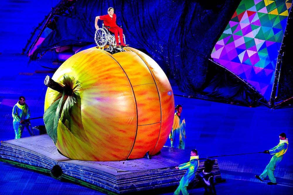 Engeland, Londen, 29-08-2012.<br /> Paralympische Spelen.<br /> Openingsceremomie.<br /> Foto : Klaas Jan van der Weij