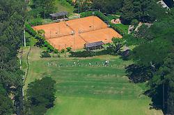 Vista aéra do campo de jogo do XIII Aberto do Belém Novo Golf Club.  FOTO: Jefferson Bernardes/Preview.com