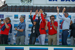 Team SUI, Jufer Alain, Kistler ANdy, Skalli Fanny<br /> Longines FEI Jumping Nations Cup de France<br /> La Baule 2018<br /> © Hippo Foto - Dirk Caremans<br /> 20/05/2018