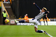 Callum Robinson (7) of West Bromwich Albion shoots towards the goal during the Premier League match between Wolverhampton Wanderers and West Bromwich Albion at Molineux, Wolverhampton, England on 16 January 2021.