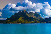 Mount Otemanu, Bora Bora, French Polynesia.