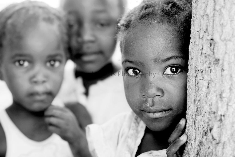 Young Zambian children in Lozi village