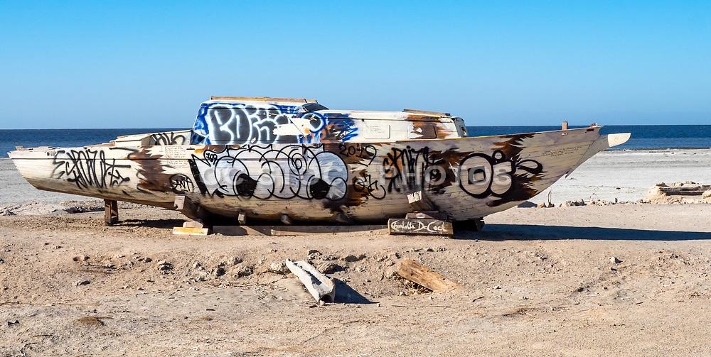 Graffiti Noah's Ark in Bombay Beach