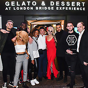 Cuba Riggs,Claire Petulengro, See Li, Lavena and Dennon attend the preview PhoboPhobia Live Halloween Show on 10th October 2019, at The London Bridge Experience & London Tombs, London, UK.