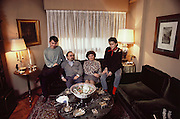Torrens family in their living room. Madrid, Spain.