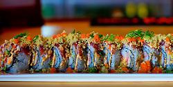 Japanese & Sushi - KiTARO Bistro of Japan. Geisha Big Roll Kitaro Bistro - deep fried lobster, crab meat, avocado, crunchy masago roll, and tuna on top Yum!