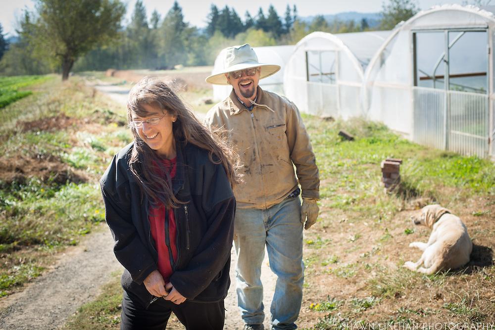 Portrait of farmers Shari Sirkin and Bryan Dickerson.