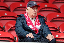 A Middlesbrough fan in the stands prior to the match