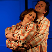 Chris Curtis (Beane) and Amy McDonald (Molly), in a scene from the Harbor Light Stage production of Love Song, a play by John Kolvebnbach, directed by Kent Stephens at The Music Hall Loft in Portsmouth, NH, May, 2011