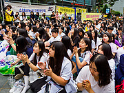 "SEOUL, SOUTH KOREA: South Korean women applaud for a speaker during the Wednesday protest at the Japanese embassy in Seoul. The Wednesday protests have been taking place since January 1992. Protesters want the Japanese government to apologize for the forced sexual enslavement of up to 400,000 Asian women during World War II. The women, euphemistically called ""Comfort Women"" were drawn from territories Japan conquered during the war and many came from Korea, which was a Japanese colony in the years before and during the war. The ""comfort women"" issue is still a source of anger of many people in northeast Asian areas like South Korea, Manchuria and some parts of China.     PHOTO BY JACK KURTZ   <br /> Wednesday Demonstration demanding Japan to redress the Comfort Women problems"