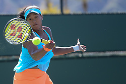 March 11, 2017 - Indian Wells, California, United States - NAOMI OSAKA of Japan in her match vs. S. Zhang in the BNP Paribas Open tennis tournament in Indian Wells California. (Credit Image: © Christopher Levy via ZUMA Wire)