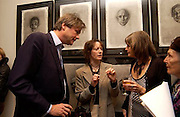 Marquis of Worcester, Rebecca Fitzgerald ( Fraser) and Lady Anne Carr ( Somerset) Matthew Carr exhibition opening, Marlborough Fine Art, 25 November 2003. © Copyright Photograph by Dafydd Jones 66 Stockwell Park Rd. London SW9 0DA Tel 020 7733 0108 www.dafjones.com