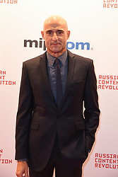 Mark strong poses as arriving for the opening ceremony of the MIPCOM in Cannes - Marche international des contenus audiovisuels du 16-19 Octobre 2017, Palais des Festivals, Cannes, France.<br />Exhibition MIPCOM (International Market of Communications Programmes) at Palais des Festivals et des Congres, Cannes (Photo by Lionel Urman/Sipa USA)