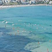 Aerial view on Bondi Beach.
