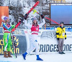 18.12.2018, Saslong, St. Christina, ITA, FIS Weltcup Ski Alpin, Abfahrt, Damen, Siegerehrung, im Bild Nicol Delago (ITA, 2. Platz) // second placed Nicol Delago of Italy during the winner Ceremony for the ladie's Downhill of FIS ski alpine world cup at the Saslong in St. Christina, Italy on 2018/12/18. EXPA Pictures © 2018, PhotoCredit: EXPA/ Johann Groder