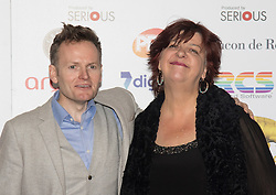 Victoria House, London, April 26th 2016. Joe Stilgoe and Liane Carroll photographed at the Jazz FM awards at Victoria House, Bloomsbury, London.