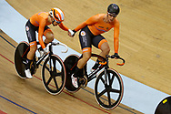 Women Madison, Amy Pieters (Netherlands) - Kristen Wild (Netherlands) during the Track Cycling European Championships Glasgow 2018, at Sir Chris Hoy Velodrome, in Glasgow, Great Britain, Day 6, on August 7, 2018 - Photo luca Bettini / BettiniPhoto / ProSportsImages / DPPI<br /> - Restriction / Netherlands out, Belgium out, Spain out, Italy out -