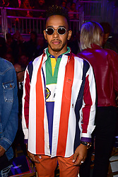 Lewis Hamilton during the Tommy Hilfiger Front row during London Fashion Week SS18 held at Roundhouse, Chalk Farm Rd, London. Picture Date: Tuesday 19 September. Photo credit should read: Ian West/PA Wire