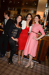 Left to right, CHLOE FRANCIS, YASMIN MILLS and SOPHIE ELLIS-BEXTOR at the Blue Monday Cheese Launch presented by Alex James and held at The Cadogan Hotel, Sloane street, London on 11th June 2013.