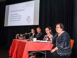 Pictured: A panel including MSP's Jackie Baillie, Kate Forbes and Murdo Fraser responded to the report.<br /> <br /> A report on the Scottish economy by independent think tank Reform Scotland was launched in Edinburgh.<br /> <br /> © Dave Johnston / EEm