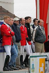 Somers Lucien (BEL), Bruynseels Niels (BEL), Lejeune Philippe (BEL), Guerdat Steve (SUI)<br /> CSIO La Baule 2008<br /> Photo © Hippo Foto