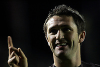 Photo: Marc Atkins.<br /> Milton Keynes Dons v Tottenham Hotspur. Carling Cup. 25/10/2006. Robbie Keane celebrates scoring for Spurs.