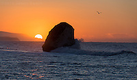 Isle of Wight Landscape photography - Sunrise at Freshwater Bay on a winters day