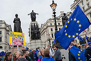 Seven days before the original for the UK to leave the EU, hundreds of thousands of Brexit protestors marched through central London calling for another EU referendum. Organisers of the Put It To The People campaign say more than a million people joined the march before rallying in front of Parliament, on 23rd March 2019, in London, England.