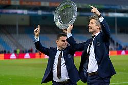 15-05-2019 NED: De Graafschap - Ajax, Doetinchem<br /> Round 34 / It wasn't really exciting anymore, but after the match against De Graafschap (1-4) it is official: Ajax is champion of the Netherlands / Edwin van der Sar en Marc Overmars
