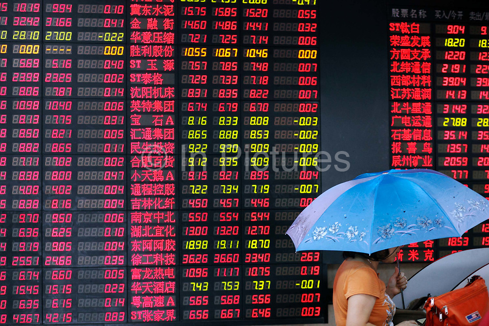 Independent investors trade and watch stocks at a security exchange house in Shanghai, China on 14 July 2009.