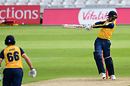 Jordan Thompson of Yorkshire during the Vitality T20 Blast North Group match between Nottinghamshire County Cricket Club and Yorkshire County Cricket Club at Trent Bridge, Nottingham, United Kingdon on 31 August 2020.