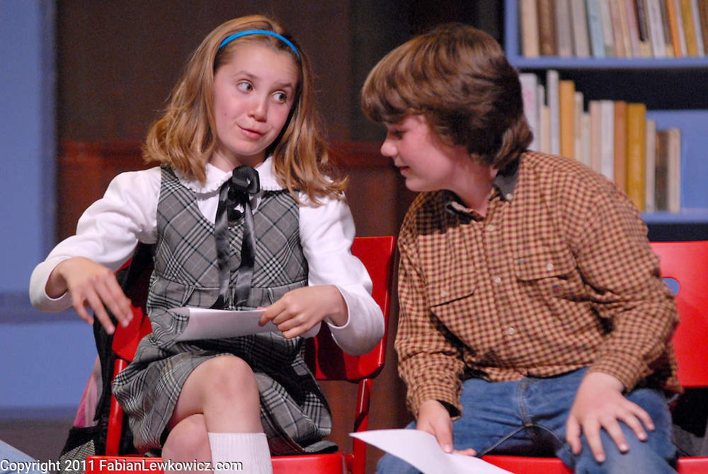 """Cast run through dress rehearsal of 'Thank You, Mr. Falker"""" at the Morgan-Wixson Theater  on Friday, May 13, 2011.<br /> <br /> A new family musical by Sarah Taylor Ellis (music) and Andrew Bentz (book & lyrics) about literacy and dyslexia, Thank You, Mr. Falker, will premiere at the Morgan-Wixson Theater in Santa Monica on Saturday, May 14, 2011.<br /> <br /> Directed by Lane Williamson; Music direction by Sarah Taylor Ellis; Choreography by Christopher Albrecht; Produced by Mary Morra & Jennifer Polhemus"""
