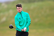 Sam Murphy (Portumna) the 18th tee during Round 3 of the Ulster Boys Championship at Donegal Golf Club, Murvagh, Donegal, Co Donegal on Friday 26th April 2019.<br /> Picture:  Thos Caffrey / www.golffile.ie