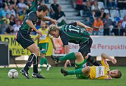 11.09.2010, Tivoli, Innsbruck, AUT, 1. FBL, FC Wacker Innsbruck vs SV Josko Ried, im Bild Inaki Bea Jauregi,(FC Wacker Innsbruck, Verteidiger, #02), Harald Pichler,(FC Wacker Innsbruck, Verteidiger, #17). und Markus Hammerer,(SV Josko Ried, Sturm, #21)., EXPA Pictures © 2010, PhotoCredit: EXPA/ P. Rinderer / SPORTIDA PHOTO AGENCY
