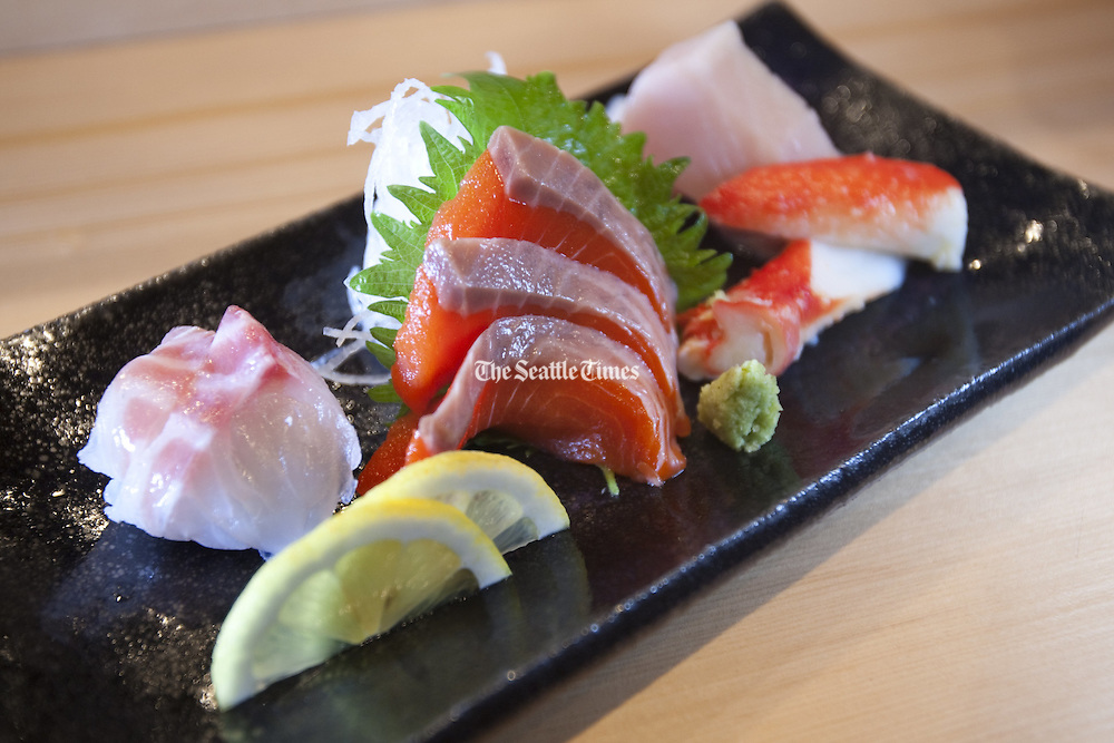 Sushi plate (Mike Siegel / The Seattle Times)